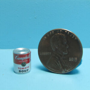 Dollhouse Miniature Detailed Replica Campbell's Tomato Soup Can