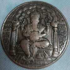 1818 LORD GANESHA EAST INDIA COMPANY UKL 2 ANNA PALM SIZE BIG COIN