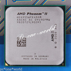 100% OK HDX955WFK4DGM AMD Phenom II X4 955 3.2 GHz Quad-Core Processor CPU