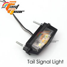 Fit Motorcycle  Rear Black LED number E-Mark flexible tail tidy lamp