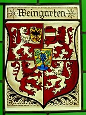 """Bleiverglasung Bleiglas Fensterbild Bernhardt- Glasmalerei """"Weingarten- Wappen"""""""