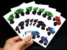 Premium Monster Truck Temporary Tattoos, Party Favors