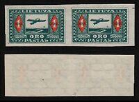 Lithuania, 1921, SC C5a, mint, pair, imperf. b8874