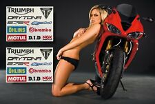 Triumph Daytona 675 R DECALS STICKERS ★ 20 PACK ★ 675R Ohlins Brembo Renthal DID