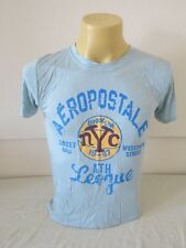 "AEROPOSTALE MENS T-SHIRT SKY BLUE NYC 36""CHEST S SMALL NEW"