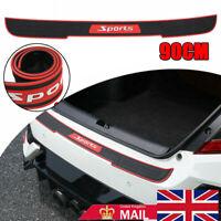 UK Black Universal Car Rear Bumper Protector Plate Rubber Cover Guard Trim Pad