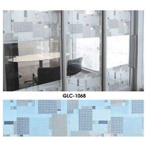 Statische Fensterfolie Sichtschutzfolie Milchglasfolie Abstrakt Gardine 46cm br.