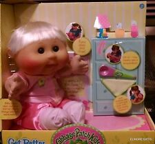 CABBAGE PATCH KIDS GET BETTER BABY LEO SARA MARCH 22ND BLONDE BROWN EYED