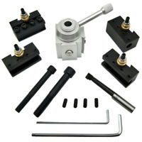 Mini Quick Change Tool Post Holder Kit Set For CNC Lathe Aluminium Material