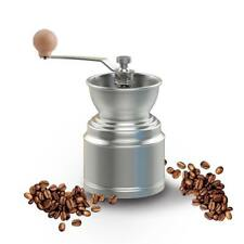 Stainless Steel Manual Coffee Bean Grinder Spice Pepper Burr Millstone Tool LG