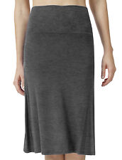 NE PEOPLE Solid Comfortable Lightweight Mid Length Flared Maxi Skirt [NEWSK15]