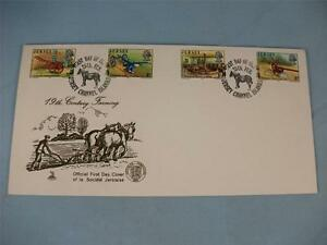 Mercury First Day Issue Stamp Cover 'Jersey 19th Century Farming' 1975 stamps