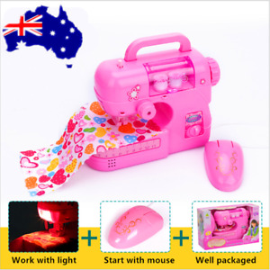 Children Sewing Machine Creative Kids Gifts Small Electric Sewing Machine Toy AU