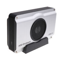 USB3.0 Enclosure to 3.5'' SATA Desktop Hard Drive Case with cooling fan