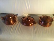 Copper pot set, Authentic Hand made Persian