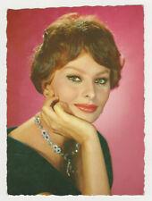 SOPHIA LOREN Actress Movie Vintage Original Old Photo Postcard Color