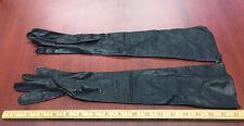 Vintage Regency Gloves Made in France Real Kid Leather 6-1/2� New Old Silk Lined