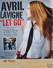 """AVRIL LAVIGNE """"LET GO - COMPLICATED & SK8ER BOI"""" U.S. PROMO POSTER - 1st POSTER!"""