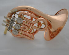 Professional Phosphor Bb Mini French horn Rose brass with Case mouthpis