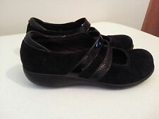 Clark Bendables suede like black mary janes - womens size 7 M