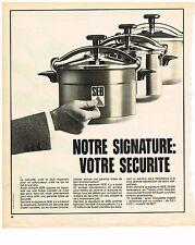 PUBLICITE ADVERSTISING  1973   SEB   cocotte minute