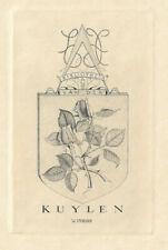 WILLY STUKHARD: Exlibris für van der Kuylen, Rose