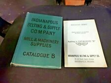 RARE Indianapolis Belting & Supply Co. HC Catalog B & Discount Sheet ASBESTOS