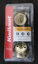 New Kwikset 96650-494 Security Double Cylinder Deadbolt PolsBrass|Strong Secure