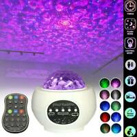 Galaxy Star Night Lamp LED Starry Night Light USB Ocean Wave Projector w/ Music