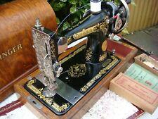 Antique Old Vintage Hand Crank  Singer sewing machine Model 28K See Video