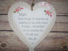 Heart Flowers Shabby Chic Decorative Plaques & Signs