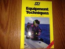 Scuba Schools International Equipment Techniques Specialty Manual Dive Diving