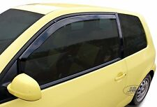 VW LUPO 3 door Front wind deflectors 1999-2005  2pc set TINTED HEKO