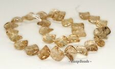12-16MM  SMOKY QUARTZ GEMSTONE TWIST DIAMOND LOOSE BEADS 7""