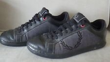 Negro Zapatos FRED PERRY Zapatillas-Uk Size 7