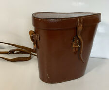 Vintage Leather Binoculars Case Box J A Davis & Sons