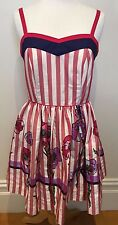ALANNAH HILL NEW 'Ice That Cake' Candy Stripe Floral 50's Pin Up Sun Dress 10