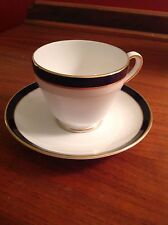 Spode Consul Colbalt Cup and Saucer Excellent Condition Y7332
