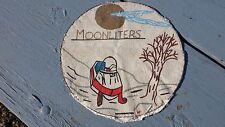 Vintage Moonliters Moonlighters Snowmobile Club Large Handmade Patch Polaris