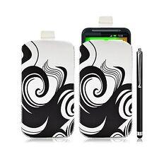 Housse coque étui pochette pour HTC Desire HD avec motif HF04 + Stylet luxe