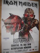Iron Maiden Tourplakat/Tourposter 2016 - DINA 0 - Rockavaria München