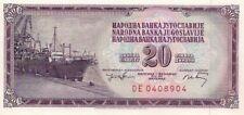 P85  Jugoslawien / Yugoslavia  20 Dinara 1974  UNC