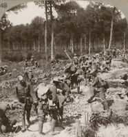 WW1 Stereoview. Captured Trenches Hastily Reversed & Strengthened Against Attack