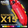Stickers autocollants adhésifs pour étrier de frein - DODGE