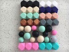 Bulk Hexagon 17mm Silicone Bead 45 Pack- Was Teething Aus Seller Free Postage