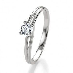 Romantischer Antragsring / Verlobungsring - 925er Sterling Silber mit Zirkonia