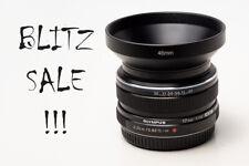Olympus M.Zuiko Digital 17mm F/1.8 Wide Angle Lens - Black + Metal Hood