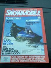 Nov 1986 snowmobile Magazine  Ski Doo Yamaha Arctic Cat Polaris Indy Sport