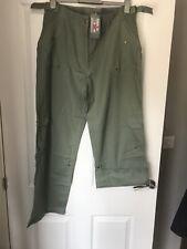 Bnwt Funmum Maternity Turnup Linen Cargo Trousers Size Xl Uk 16
