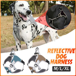 Dog Harness No-Pull Pet Harness Vest Adjustable Outdoor Reflective Easy Cont